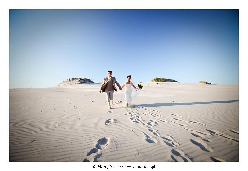 zdjęcia ślubne plenerowe na wydmach