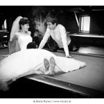 Plener ślubny na stole bilardowym – Marta i Leszek