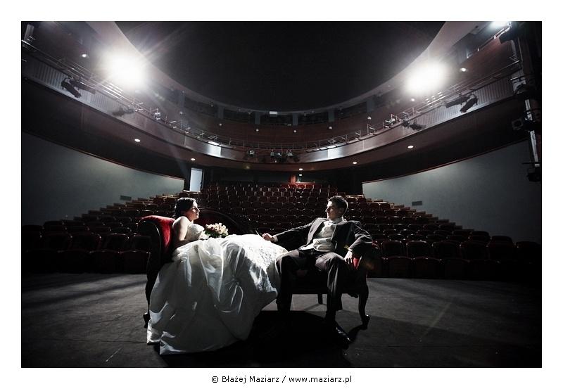 fotografia ślubna w teatrze