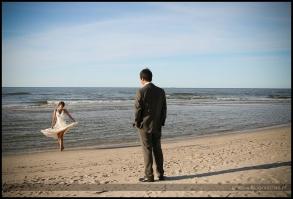 zdjęcia ślubne w wodzie