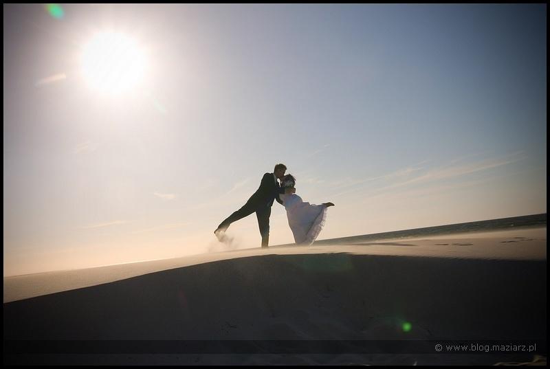plażowy plener ślubny
