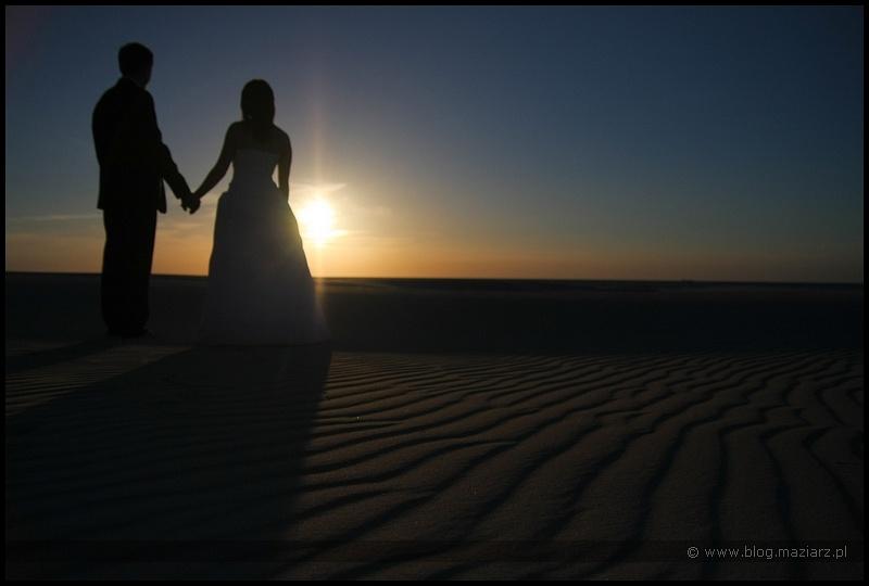 zdjęcia ślubne fotografia ślubna woda plaża