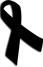 czarna wstążka