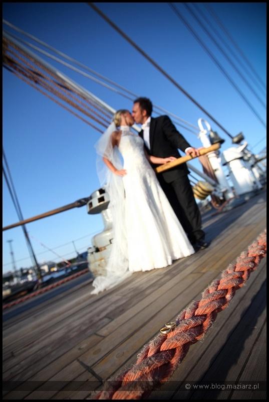 ciekawy plener ślubny