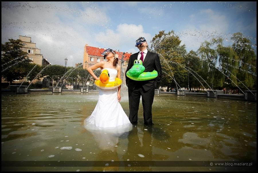ciekawy pomysł na zdjęcia ślubne