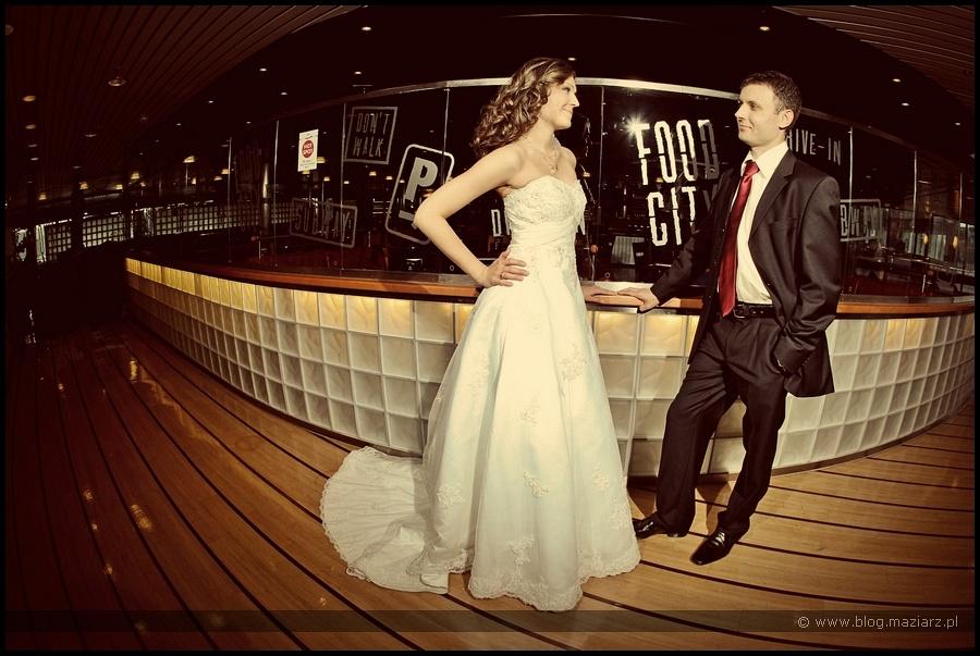 nietypowy plener ślubny na promie Gdynia