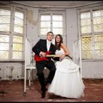Oryginalna sesja plenerowa w opuszczonym szpitalu | Szalony plener ślubny Gdańsk