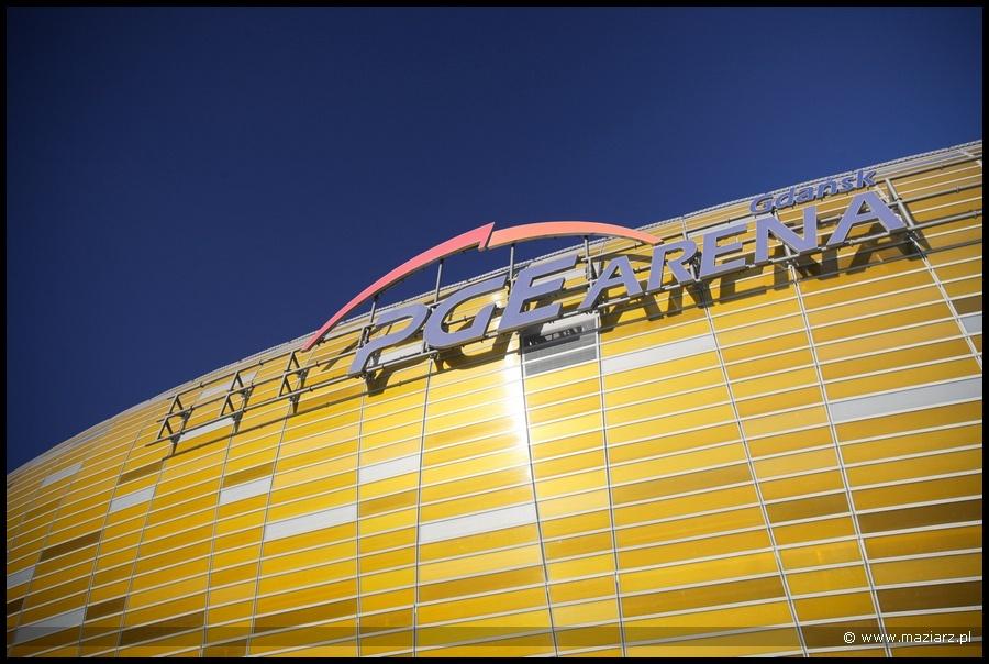 Zdjęcia stadionu piłkarskiego PGE Arena w Gdańsku
