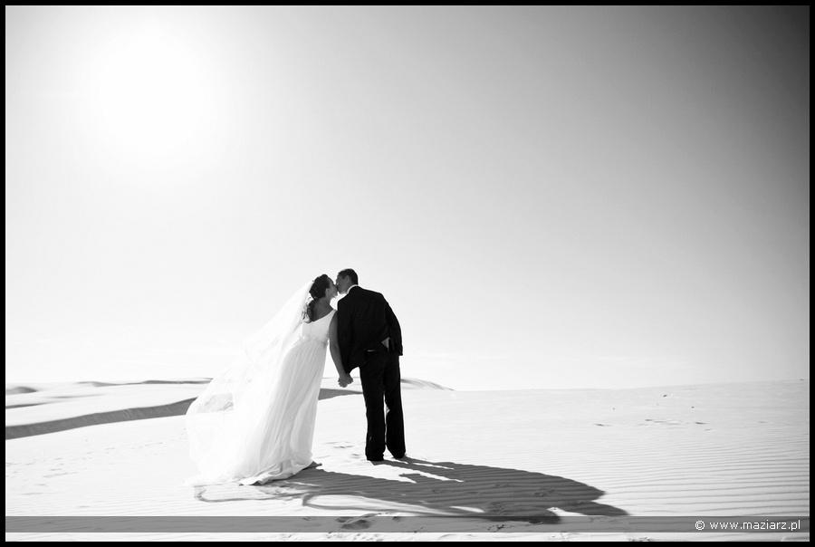 plener ślubny w Łebie