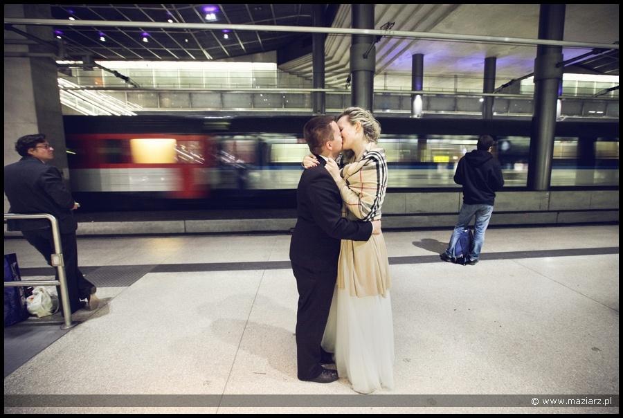 plener ślubny nocą Berlin