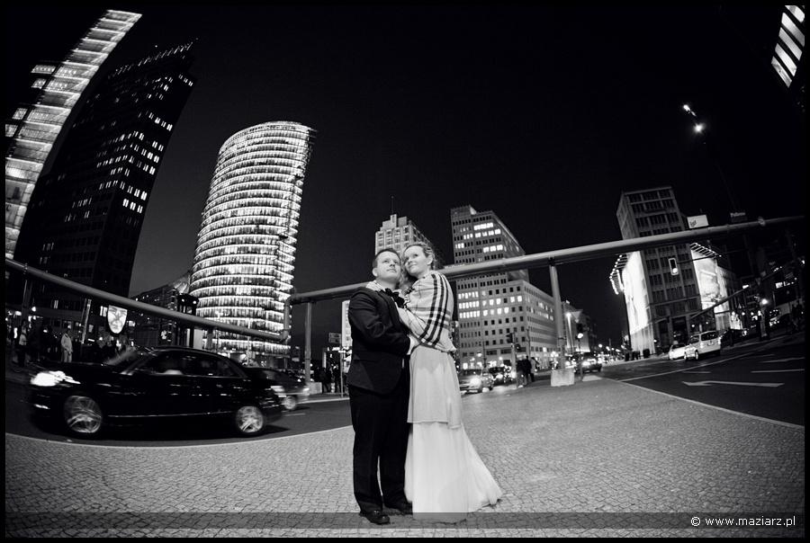 Hochzeitsfotos Berlin in der Nacht