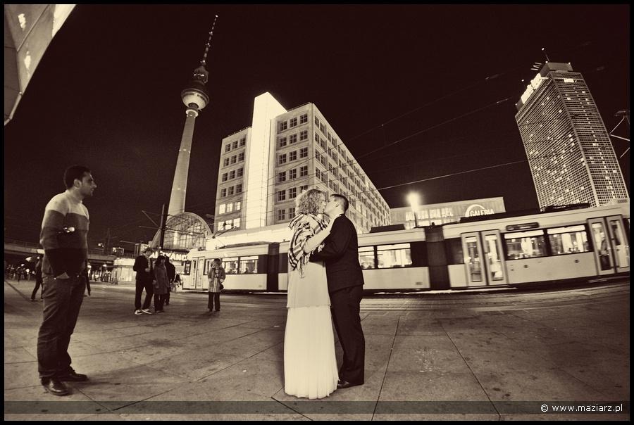 nocne zdjęcia ślubne