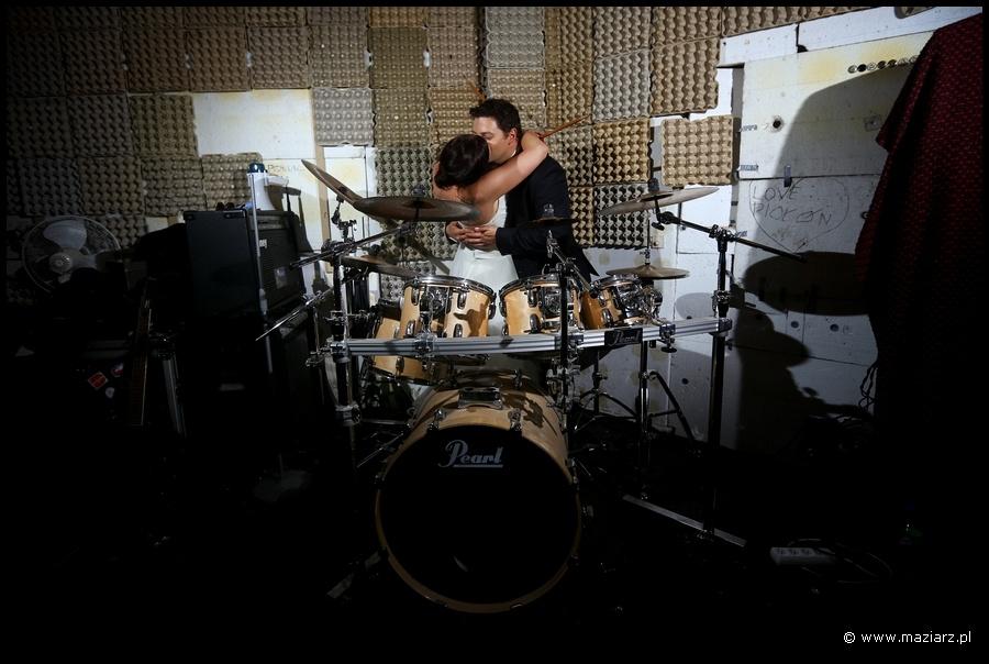 fotografia ślubna perkusja